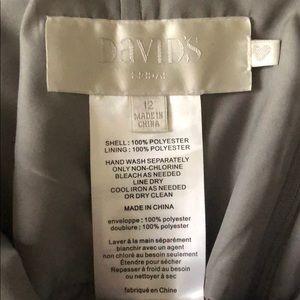 David's Bridal Dresses - David's Bridal one shoulder gray dress SZ 12